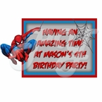 Spiderman personalized party favor