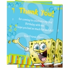 Spongebob Personalized Thank You Cards