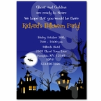 Spooky House Halloween personalized party invitations