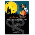 Spooky Witch Custom Halloween party invitations