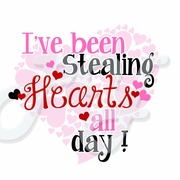 Stealing Hearts Valentine's Day Personalized T shirt