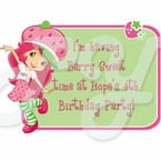 Strawberry Shortcake Personalized Party Favor