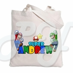 Super Mario Bros Personalized Canvas Tote bag