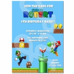 Super Mario Personalized Birthday Invitations