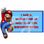 Super Mario Personalized Party Favor