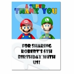 Super Mario Personalized Thank you Cards
