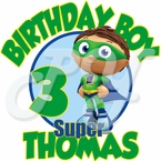Super Why personalized birthday t shirt