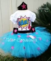 Superhero Girl Wonder Woman tutu dress set