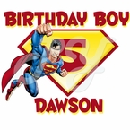 Superman Personalized Birthday t shirt