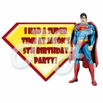 Superman Personalized Party Favor