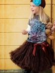 Sweet Chocolate Brown Pettiskirt