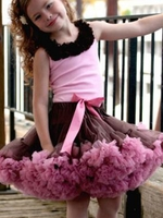 Sweet & Sassy - Brown and Dusty Rose Pettiskirt