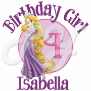 Tangled Personalized Birthday t shirt