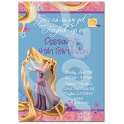 Tangled personalized invitations