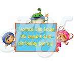 Team Umizoomi personalized party favor