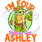 Teenage Mutant Ninja Turtles Michelangelo Personalized birthday t shirt