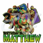 Teenage Mutant Ninja Turtles Personalized birthday t shirt