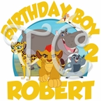 The Lion Guard Personalized Birthday t shirt