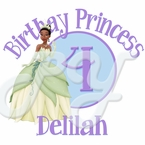 The Princess and the Frog Personalized Birthday t shirt