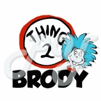 Thing 2 personalized t shirt