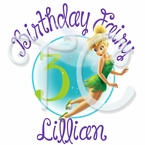 Tinkerbell personalized birthday t-shirt