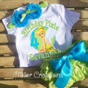 Tinkerbell Personalized Petti Lace Bloomers/Short Birthday Set