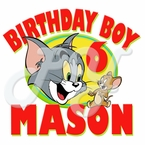 Tom and Jerry personalized birthday t shirt