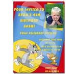 Tom and Jerry personalized invitations