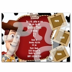 Toy Story Woody Cowboy personalized invitations