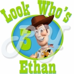 Toy Story Woody personalized birthday t shirt