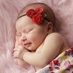 Trio Felt Rose Headband