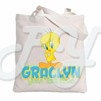 Tweety Bird Personalized Tote Bag