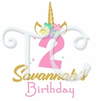 24 Unicorn Personalized birthday Stickers