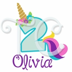 Unicorn Personalized birthday t shirt