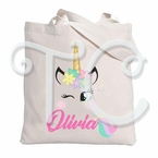 Unicorn Personalized Tote Bag