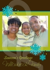 Winter Wishes Holiday Greeting Card