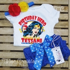 Wonder Woman Personalized Birthday Petti Lace Set