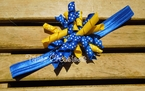 Yellow & Blue Koker Headband or Clip