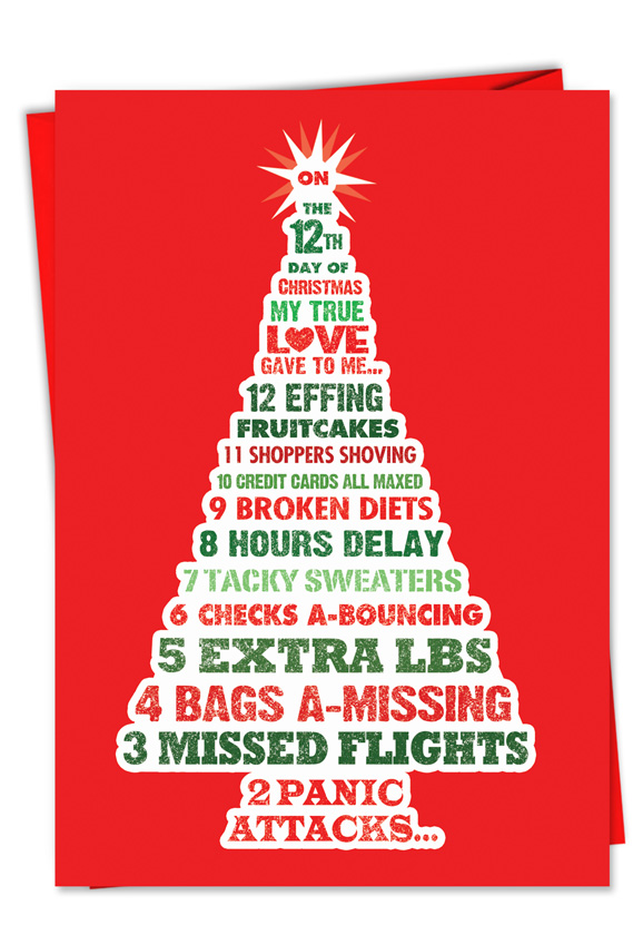 funny christmas greeting card from nobleworkscardscom 12 days of christmas