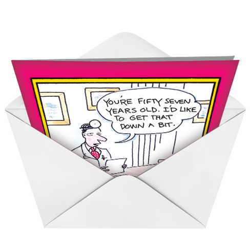 Hysterical Birthday Greeting Card By Leo Cullum From NobleWorksCards