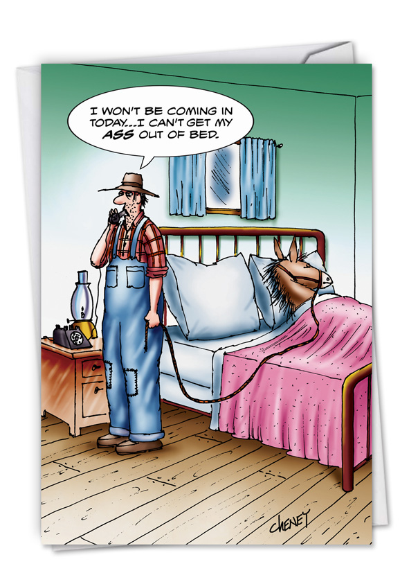 hysterical get well greeting card by tom cheney from nobleworkscardscom a - Get Well Greeting Cards