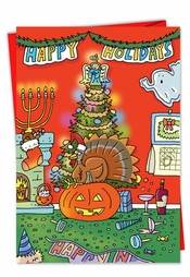 Funny holiday cards seasons greetings humor nobleworkscards greeting merry everything m4hsunfo