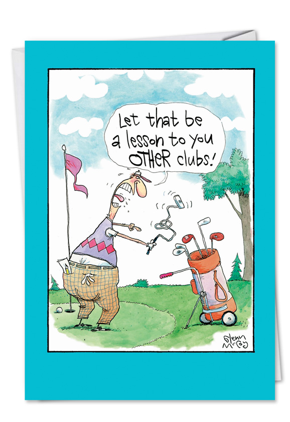 Angry Golfer Cartoons Birthday Father Paper Card Glenn Mccoy