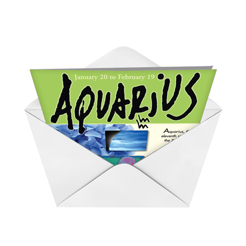 Aquarius Zodiac Birthday Card