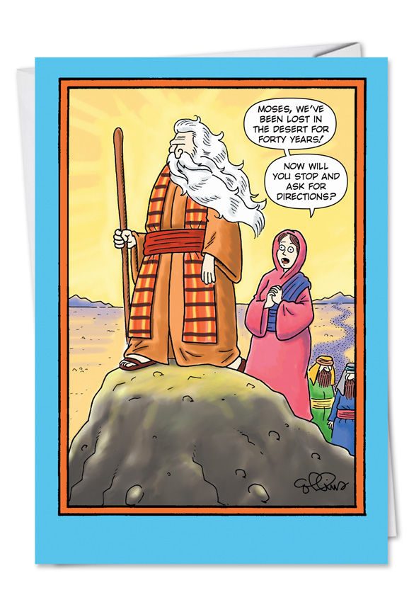 Moses Directions Funny Father's Day Card - NobleWorks