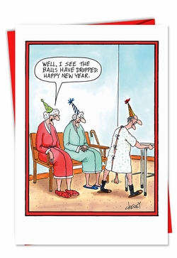 Funny New Year\'s Greeting Cards - NobleWorksCards.com