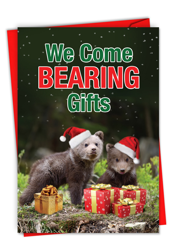 Bearing gifts hilarious merry christmas printed greeting card hilarious merry christmas printed greeting card from nobleworkscards bearing gifts m4hsunfo
