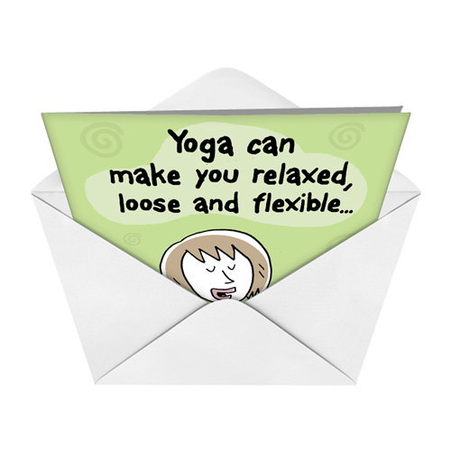 Benefits Of Yoga Birthday Funny Card