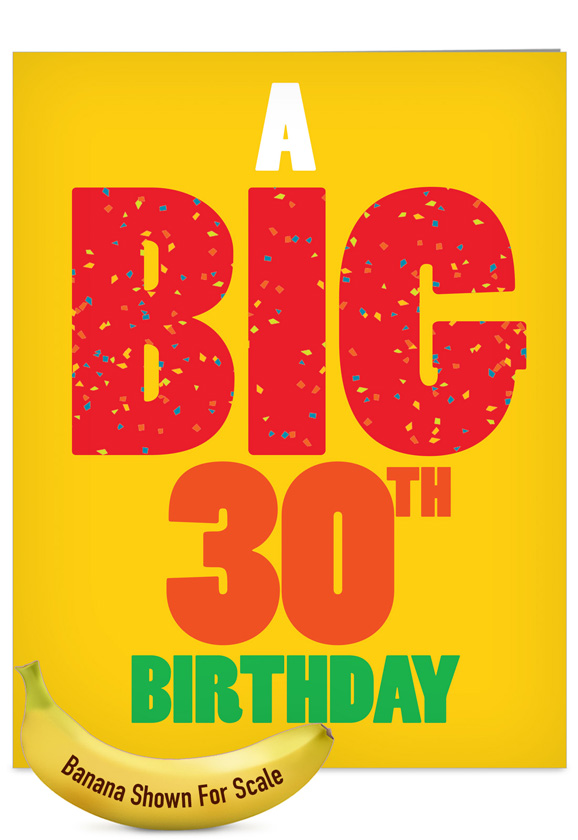 Funny Birthday Jumbo Printed Greeting Card From NobleWorksCards