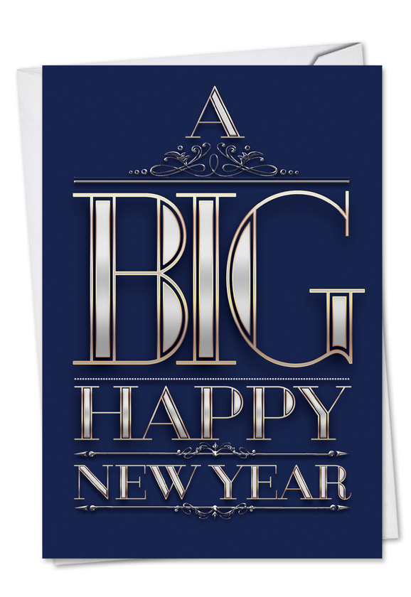 humorous new year paper card from nobleworkscardscom big happy new year elegant